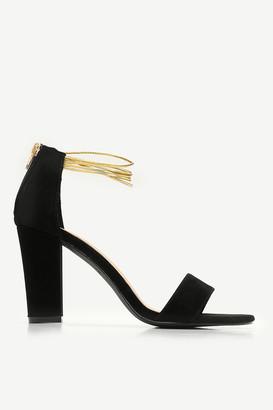 Ardene Faux Suede Block Heel Sandals