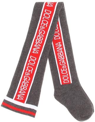 Dolce & Gabbana Logo cotton-blend socks