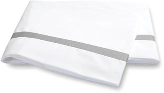 Matouk Lowell Flat Sheet - Silver Full/queen