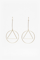 French Connection Geo Circle And Triangle Earrings
