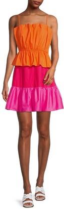 Nina Colorblock Poplin Dress