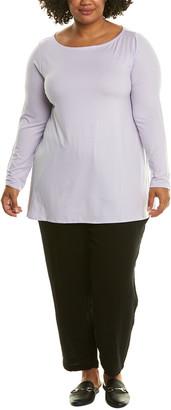 Eileen Fisher Plus Bateau Neck Tunic