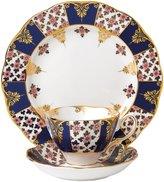 """Royal Albert 100 Years 1900 Teacup, Saucer & Plate Set - Regency Blue - 8"""" - 3 pc"""