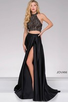 Jovani Two-Piece A-line Satin Prom Dress 41499