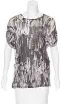 Isabel Marant Linen Feather Print Top