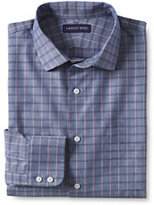 Classic Men's Big & Tall Traditional Fit Chambray Dress Shirt-Coastal Cobalt Windowpane