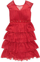 Speechless Girls Dress, Girls Tiered Red Special Occasion Dress