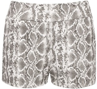 Commando Animal Print Faux Leather Relaxed Shorts