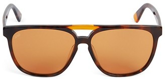Web 59MM Square Aviator Sunglasses