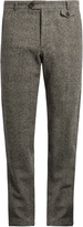 Oliver Spencer Fishtail tapered-leg textured-wool trousers