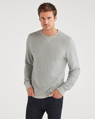 7 For All Mankind Commons Sweatshirt in Heather Grey