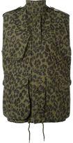 Saint Laurent leopard print military jacket