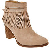 C. Wonder Suede Ankle Boots with Fringe- Willa