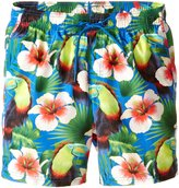Sundek Men's Tropical Birds 16 Inch Elastic Waist Swim Short