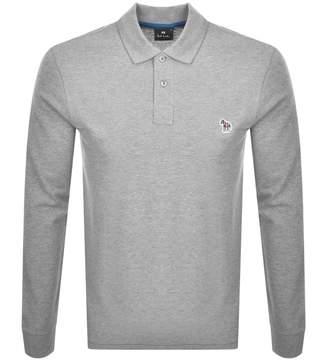 Paul Smith Long Sleeved Polo T Shirt Grey