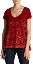 Miss Me Faded Print Lace-Up Side Top