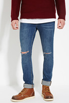 Forever 21 FOREVER 21+ Distressed Slim Fit Jeans
