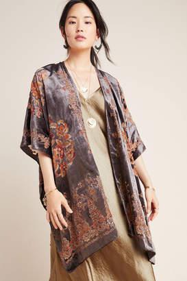 Anthropologie Claudette Burnout Velvet Kimono