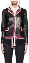 Gucci Black Sylvie Web Leather Jacket
