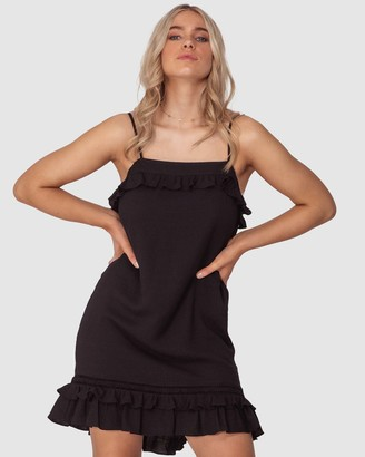Three of Something Women's Black Mini Dresses - Roll the Dice Dress - Size One Size, S at The Iconic