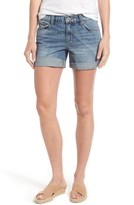 Lucky Brand Women's Shibori Print Roll Cuff Denim Shorts