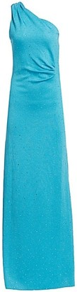 St. John Sequin Milano Knit One-Shoulder Gown