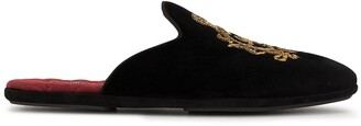 Dolce & Gabbana Logo Embroidered Slippers