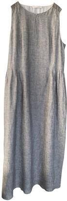 Fabiana Filippi Grey Linen Dress for Women