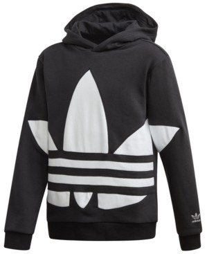 adidas Big Boys Big Trefoil French Terry Hoodie