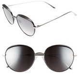 Jimmy Choo Women's Ello 56Mm Round Sunglasses - Black/ Palladium