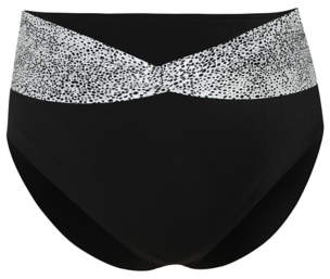 George Plus Size Foil High Waist Bikini Bottoms