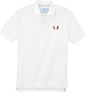 Southern Tide Miami Hurricanes Pique Polo Shirt