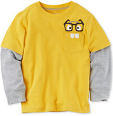 Carter's Glasses Graphic-Print Cotton Shirt, Toddler Boys (2T-4T)