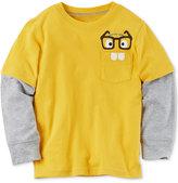 Carter's Glasses Graphic-Print Cotton Shirt, Toddler Boys (2T-5T)