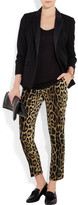 Moschino Cheap & Chic Moschino Cheap and Chic Leopard-print crepe slim-fit pants