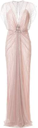 Jenny Packham Amelie beaded evening dress
