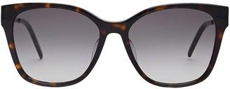 Saint Laurent Havana Square Sunglasses
