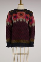 Roberto Collina Mohair Sweater with flowers