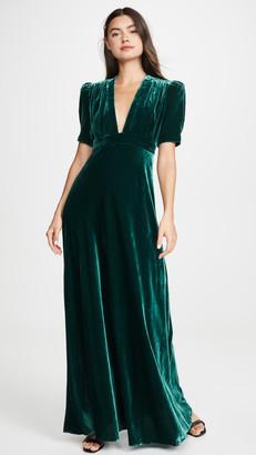 Jill by Jill Stuart Velvet Deep V Gown