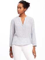 Old Navy Relaxed Linen-Blend Shirt for Women