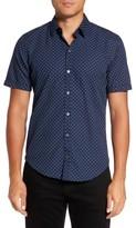 BOSS Men's Ronny Trim Dot Print Sport Shirt