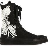 Ann Demeulemeester flower hi-top sneakers