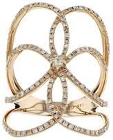 14K Rose Gold & 0.67ct Pave Diamond Long Ring