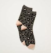 LOFT Leopard Print Crew Socks