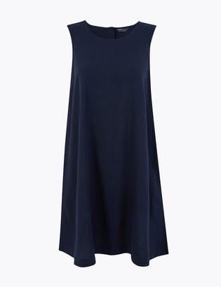 Marks and Spencer Linen Blend Swing Dress