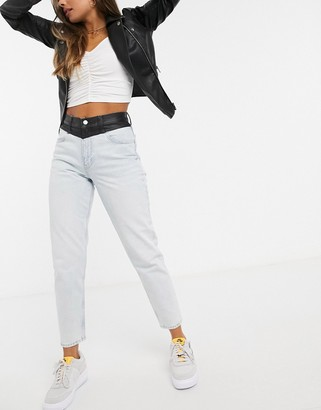 Calvin Klein Jeans mom jeans in blue