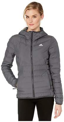 adidas Outdoor Outdoor Varilite Soft 3-Stripe Hooded Jacket (Carbon) Women's Coat