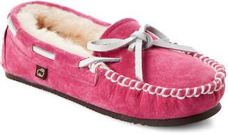 Lamo Toddler/Kids Girls) Hot Pink Britain Suede Moccasins