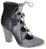 Mia Ellena Velvet Lace-Up Ankle Boots