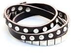 Leather Stud and Crystal Bracelet
